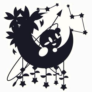 星と月/アクキー