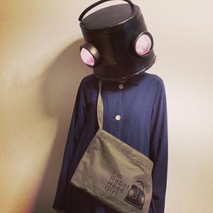 【新デザイン】「I'm robot head girl」ミュゼットバッグ