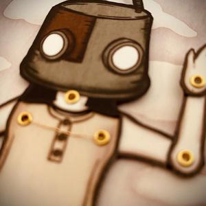 ロボット頭ペーパードール
