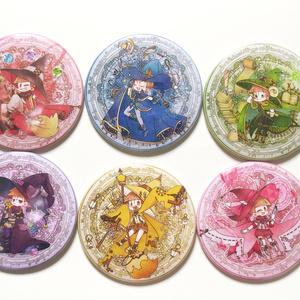魔法使い松缶バッチ(76mm)6種類セット