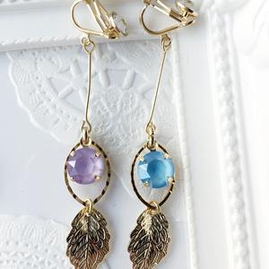 Bonbon EARRINGS ver.L - purple &blue