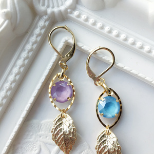 Bonbon EARRINGS ver. S - purple &blue