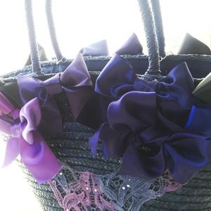 Bows Straw Bag / Blue