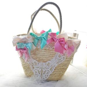 Bows Straw Bag / Macaron