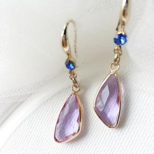 Drop Pierces -Light Purple