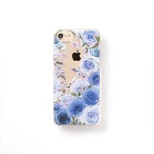 送料無料♪【スマホケース】ローズガーデンブルー【クリヤタイプ】iPhone/Andorid対応
