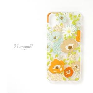 【スマホケース】アネモネオレンジ【クリヤタイプ】iPhone/Andorid対応