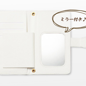 Android iPhone両対応【ミラー付き手帳型スマホケース】アネモネオリジナル