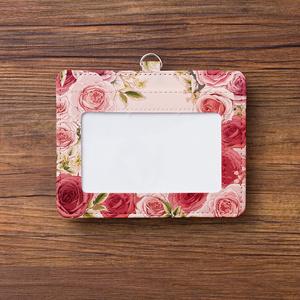 ローズガーデンピンクのパスケース【Hanayukiオリジナルイラスト】