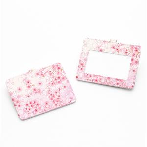 桜ピンクのパスケース【Hanayukiオリジナルイラスト】
