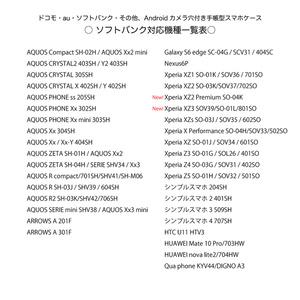《カメラ穴ありAndroid対応機種一覧表》手帳型スマホケース(2019年2月24日更新)
