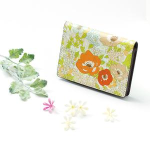 【Hanayukiオリジナル カードケース・名刺入れ】アネモネオレンジ