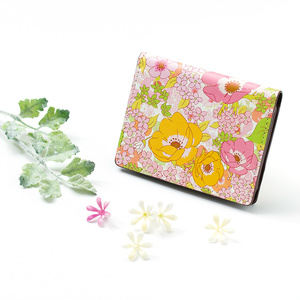 【Hanayukiオリジナル カードケース・名刺入れ】アネモネフレッシュピンク