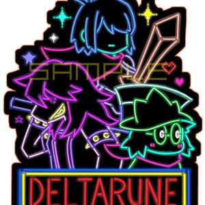 ネオン風DELTARUNEステッカー