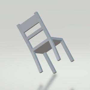 3Dモデル イス(白) ゲーム・漫画等利用可