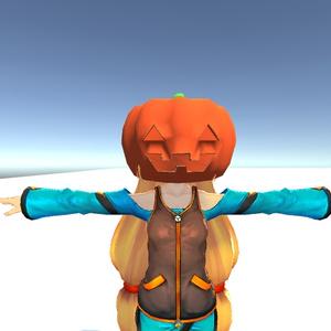 3Dモデル おばけカボチャ ゲーム・漫画等利用可