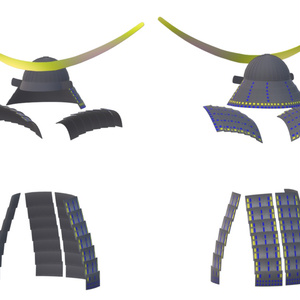 3D AVATAR ACCESSORIES Japanese Armor [MASAMUNE]