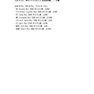 3Dモデル 素材アイテムセット(ゲーム・漫画等利用可)