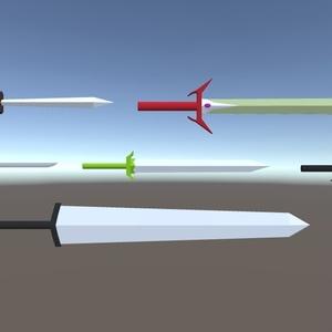 3Dモデル 武器シリーズ(ゲーム・漫画等利用可)