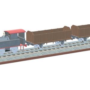 3Dモデル イギリス産蒸気機関車キット(ゲーム・マンガ等利用可)