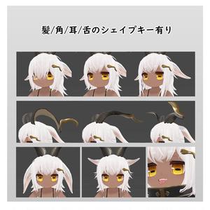 オリジナル3Dモデル【バフォメっ子】