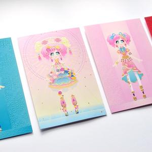 「甘辛胡椒拳」箔&ニス盛りポストカード