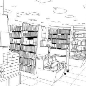 背景素材001_本屋・書店01【高解像度版】