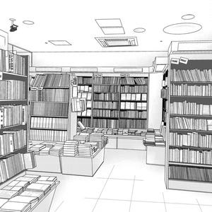 背景素材002_本屋・書店02【高解像度版】