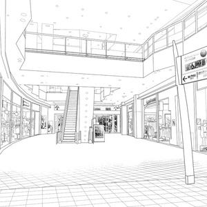 背景素材005_ショッピングモール01【フリー版】