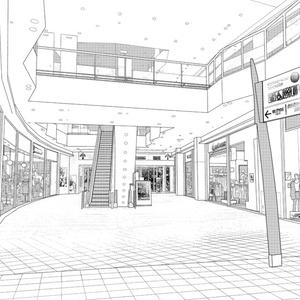 背景素材005_ショッピングモール01【高解像度版】