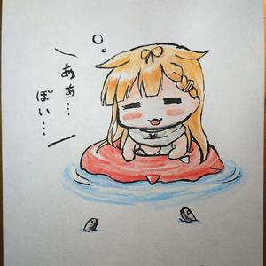 《支援者様限定》【艦これ】白露型色紙4種(水着ver)