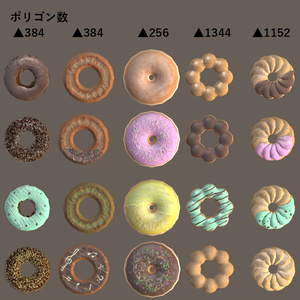 お休みさんのドーナツセット Ver1.1