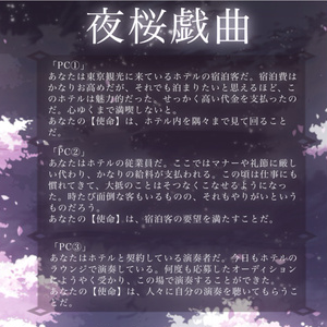 【インセインシナリオ】夜桜戯曲