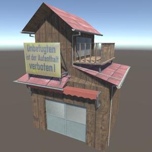 【3Dモデル】二階建ての木造住宅
