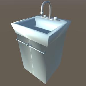 【3Dモデル】洗面台