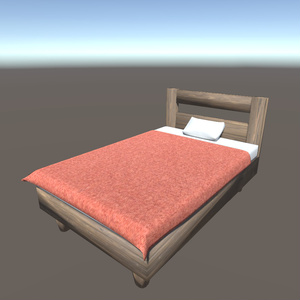 【3Dモデル】シングルベッド