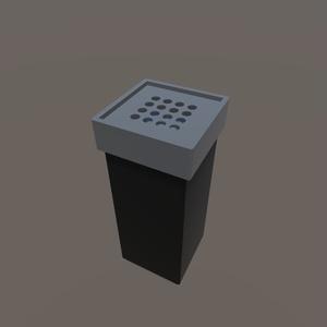 【3Dモデル】角型灰皿