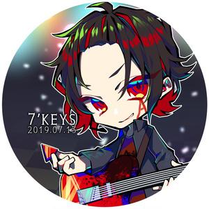 【7'keys】オリジナル缶バッチ(Bタイプ)