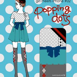 girl meets iPhone #02 popping dots (スマートフォンケース)