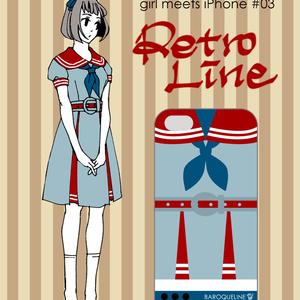 girl meets iPhone #03 Retro Line (スマートフォンケース)