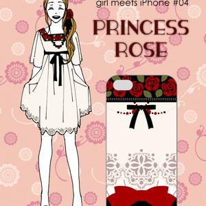 girl meets iPhone #04 PRINCESS ROSE (スマートフォンケース)