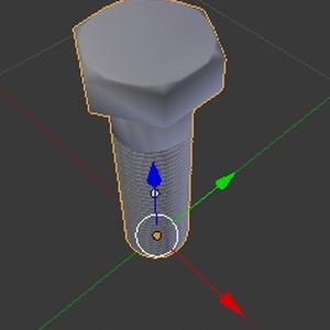 六角ボルト(半ネジ)fbxデータ