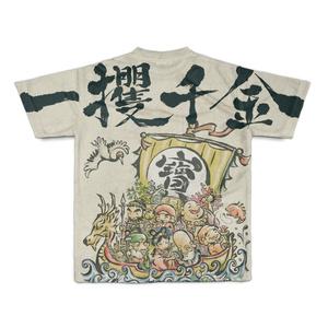 宝船 七福神フルデザインTシャツ 一攫千金