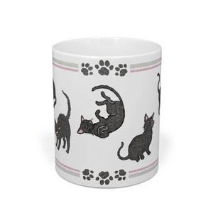 黒猫マグカップ