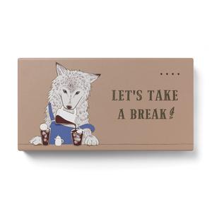 【オオカミ×コーヒー】モバイルバッテリー【LET'S TAKE A BREAK】