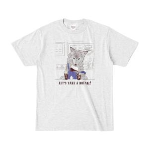 【オオカミ×コーヒー】Tシャツ【LET'S TAKE A BREAK】