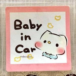 ましまろう「Baby in Car」ステッカー