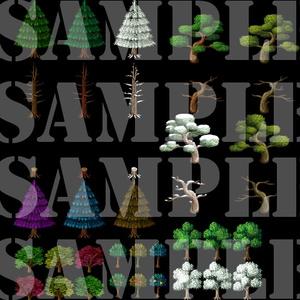 新・樹木セット素材集