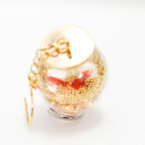 (2種)金魚鉢ピアス/イヤリング