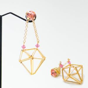 ヒンメリ編み ダイヤモチーフアクセサリー